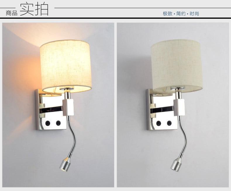 Comodino lampade da parete 1 w ha condotto il punto di illuminazione