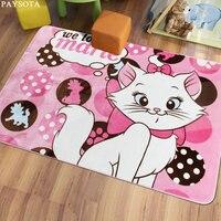 Paysota cartoon kat beer carpet slaapkamer woonkamer bed mat kinderkamer mooie home kruipen machine wasbaar
