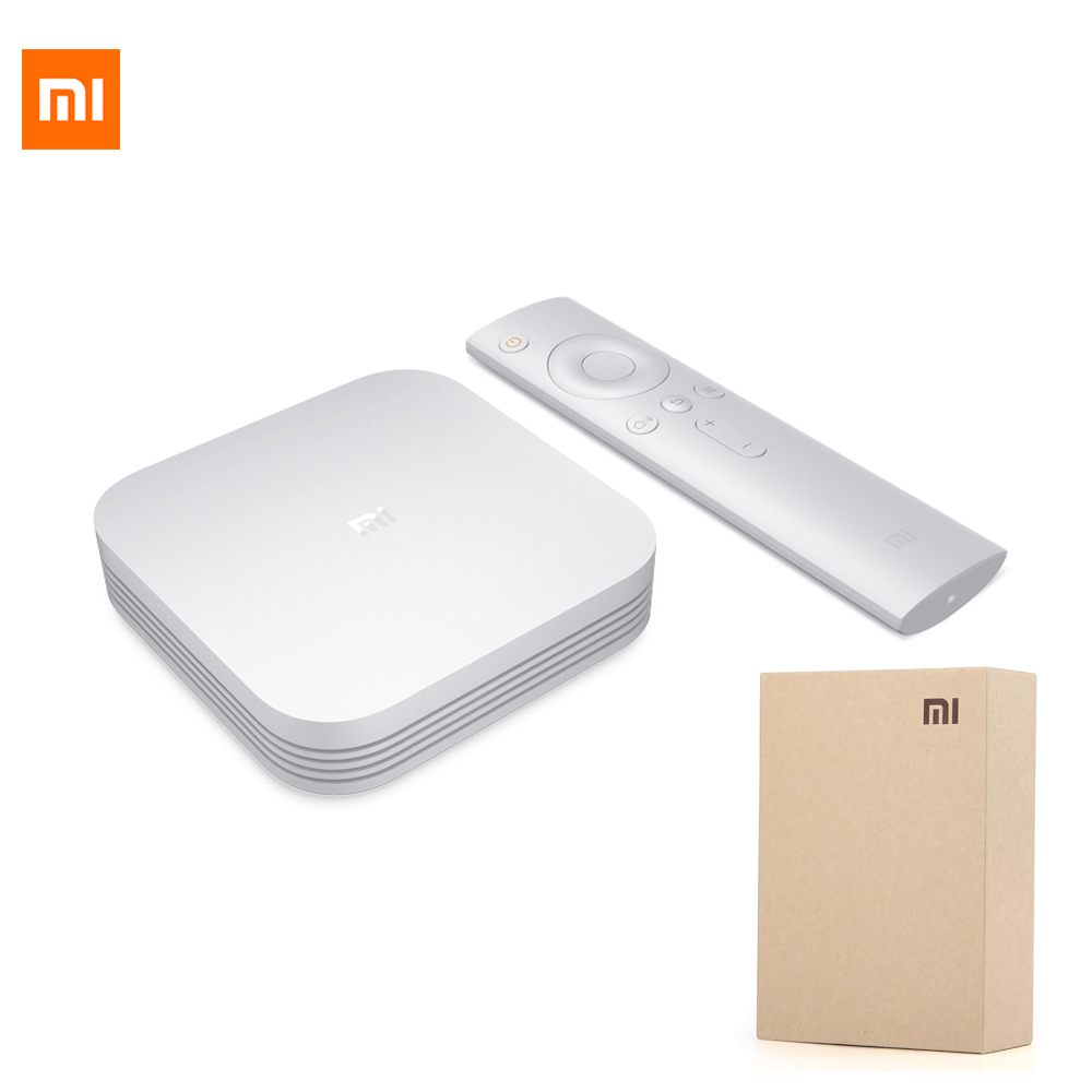 Originale Xiaomi Mi TV Box 3 Pro Versione Migliorata Smart 4 K HD 2G + 8G Dual USB 64bit 4 K Quad Core Android 5.1 Wifi Blutooth 2.4 GHz