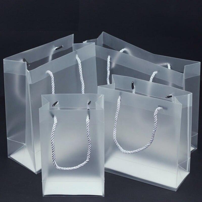 100 개/몫 7 크기 고품질 방수 투명한 pvc 부대 투명한 선물 tote 부대 pvc 비닐 봉투-에서선물가방&포장용품부터 홈 & 가든 의  그룹 1