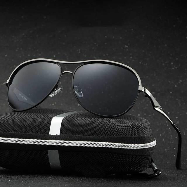 49a5b15893 2017 Nuevos hombres de la Manera UV400 HD Espejos Recubrimiento gafas de Sol  Polarizadas Hombres Que