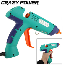 CRAZY POWER Power Tool Professional 100W Melt Adhesives Hot Glue Gun Craft Pistol With LED Indicator For Adhesive Cardboard Box