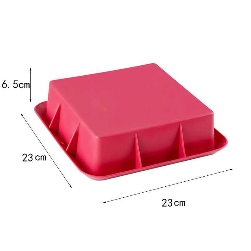 Food Grade Silicone di Forma Quadrata Antiaderente Torta Mousse Muffa Del Biscotto di Cottura Stampi FAI DA TE Strumenti di Decorazione 23*23*6.5 centimetri