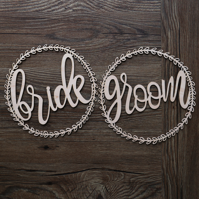Unfinished wooden bride and groom chair signsboho wedding unfinished wooden bride and groom chair signsboho wedding decoration branch wood signs junglespirit Choice Image