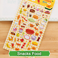 SST* 1 Sheet ' Snacks Food ' Cartoon Kids Toys 3D Sticker DIY Kawaii Diary Decoration Scrapbooking kindergarten Stationery Cute+