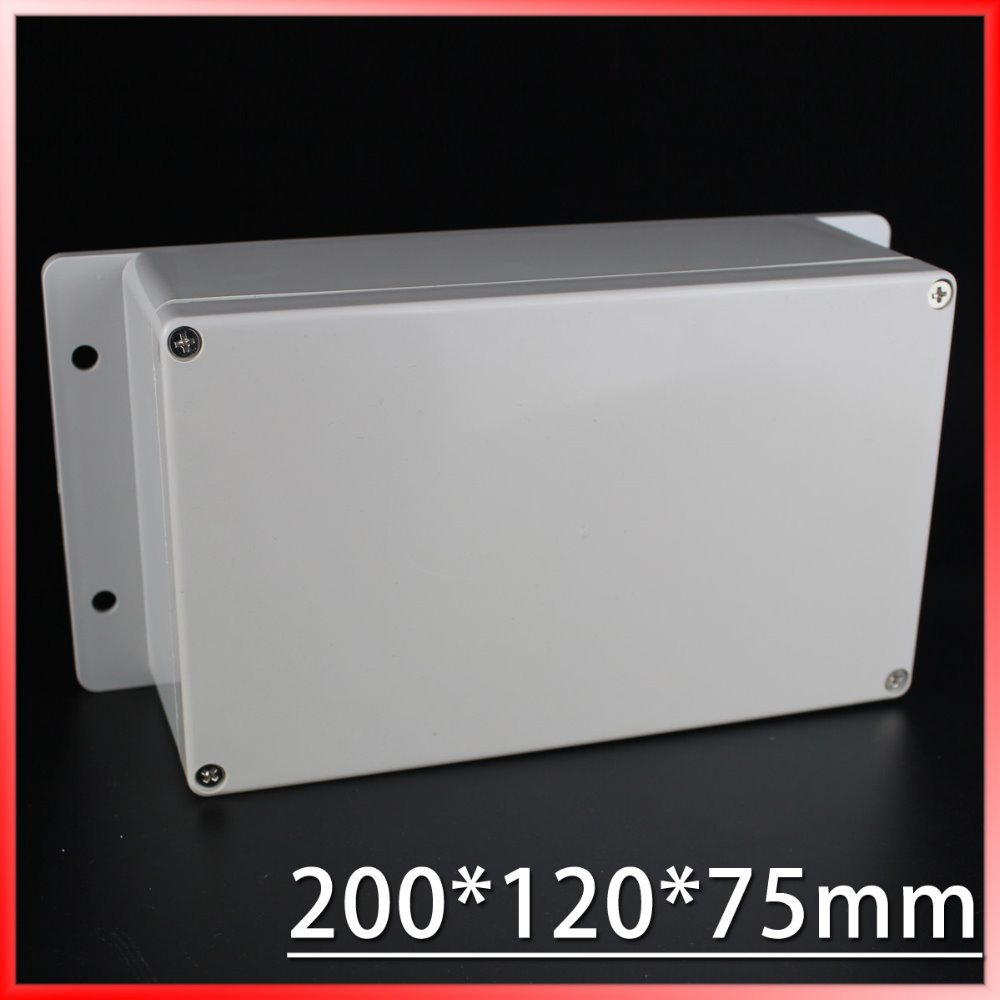 (1 piece/lot) 200*120*75mm Grey ABS Plastic IP65 Waterproof Enclosure PVC Junction Box Electronic Project Instrument Case 1 piece lot 160 110 90mm grey abs plastic ip65 waterproof enclosure pvc junction box electronic project instrument case