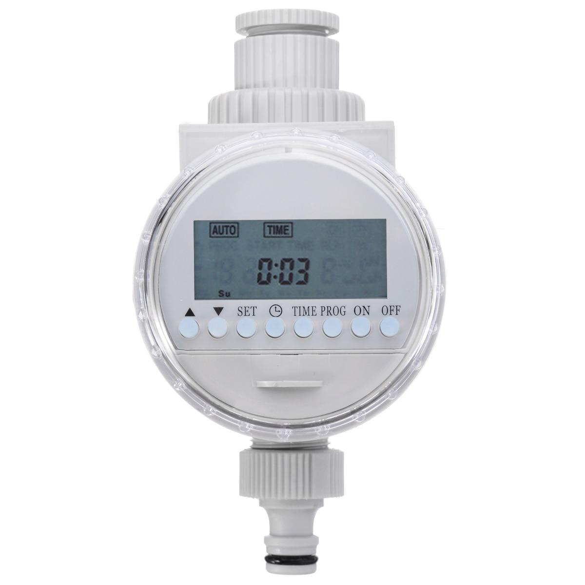 Mayitr Solar Digital LCD Auto Watering Timer Water Saving Irrigation Controller Outdoor Garden Water Timers|Garden Water Timers| |  - title=