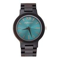 Wrist Quartz Watch Wooden Round Durable Creative Waterproof For Women Girl Men Student LL@17