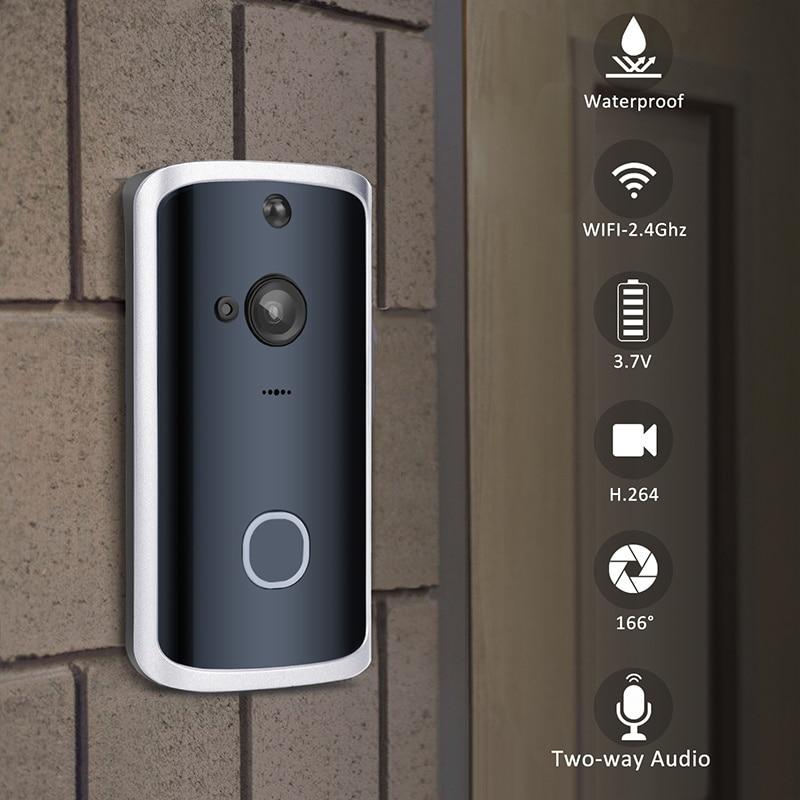 Smart Video Doorbell Camera 720P Visual Call Intercom Door Bell Infrared Night Vision Remote Record Home Security Monitoring