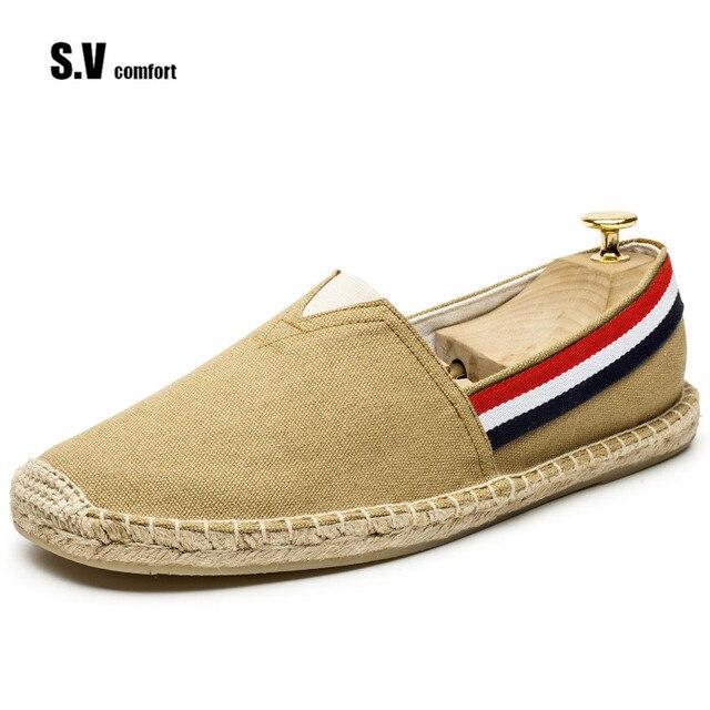 D'été Marque Sv Toile Hommes Casual Printemps Espadrille Chaussures UTqw5WqdH