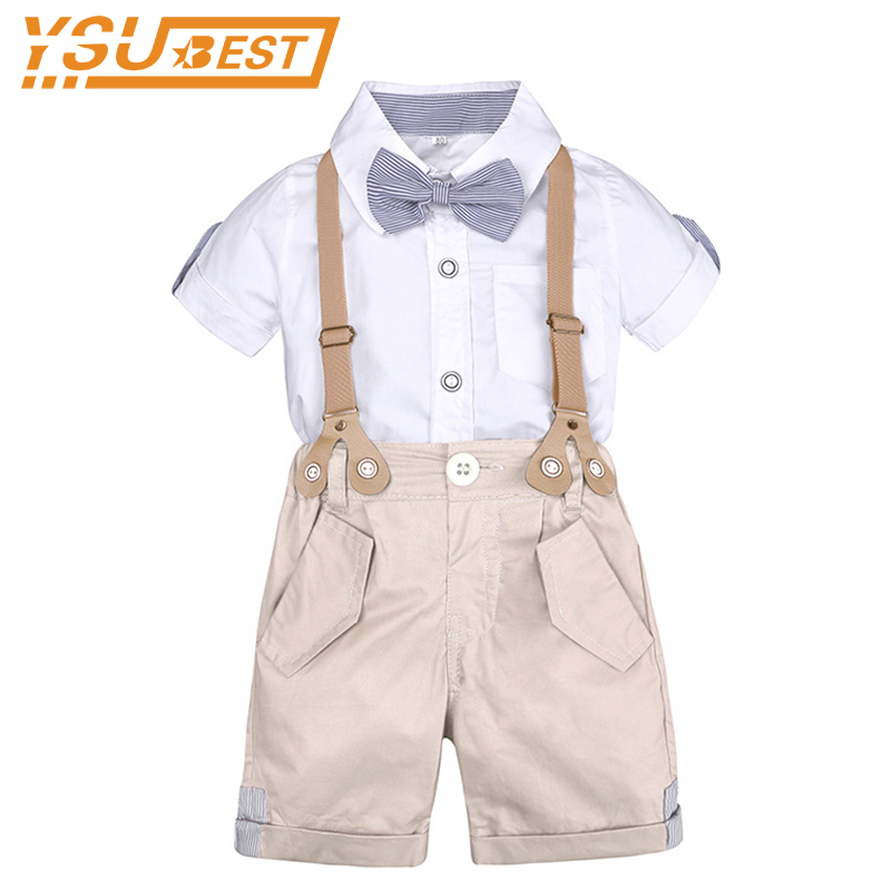 Toddler Boys Clothing Set Summer Baby Suit Shorts Shirt 1 2 3 4 Year Children Kids Clothes Suits Formal Wedding Party Costume boys formal plaid suit wedding clothes fashion children party clothing sets spring autumn baby classic gift costume kid hot sale