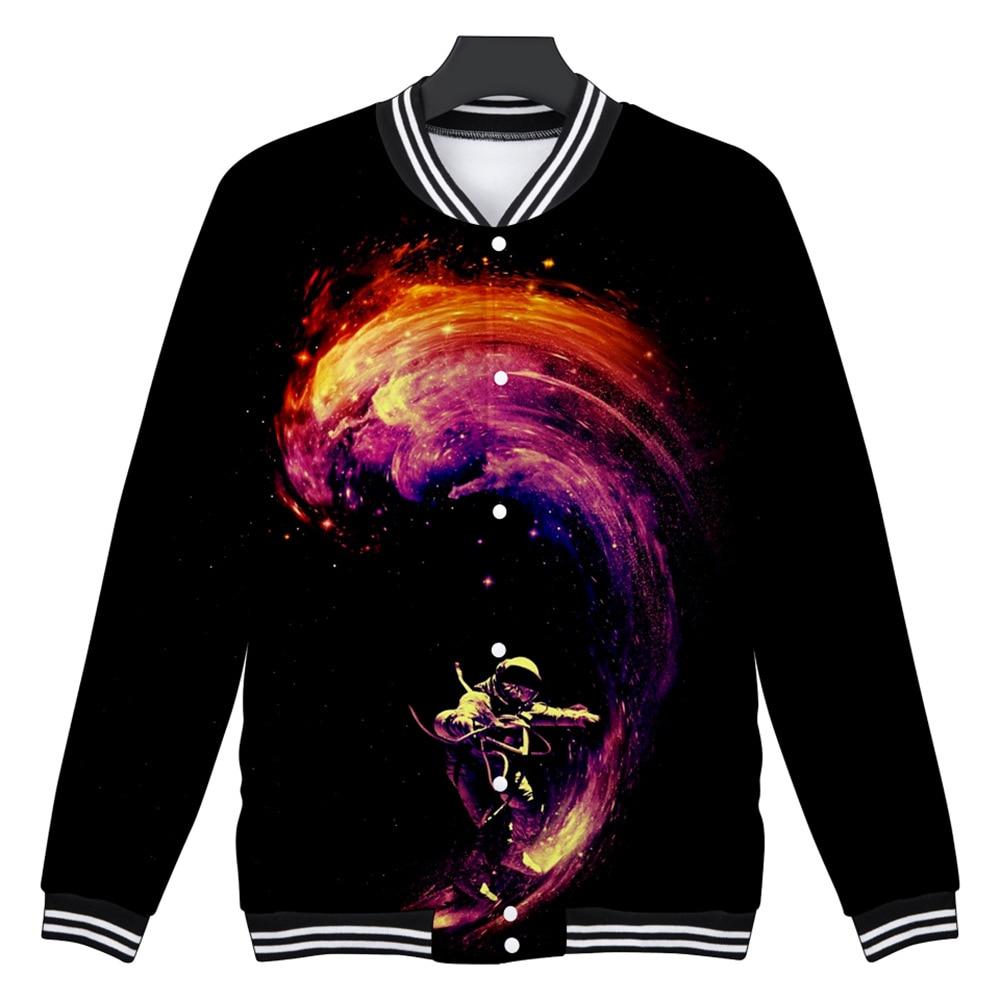 3D Space Sportwear Jacket 2018 Fashion Autumn Men/ Women Tracksuit Hip Hop Sweatshirts Harajuku Tops Long Sleeve Coats Hot Sale