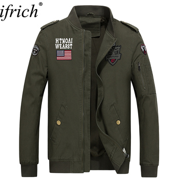 Men Jacket Jean Military  Black Brown Army Green Soldier Cotton Male Brand Clothing Spring Autumn Cheap Mens Jackets Hot Sale