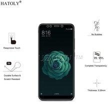 цена на 2pcs Glass For Xiaomi Mi A2 Tempered Glass For Xiaomi Mi A2 Screen Protector For Xiaomi Mi X6 Protective Phone Glass Film Mi A2
