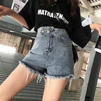 2019 Mas Nuevo De Verano De Mujeres Ancho De La Pierna Caliente Pantalones Cortos De Verano Estilo Sexy Mujer Vaqueros Tipo De Pierna Ancha Sueltos