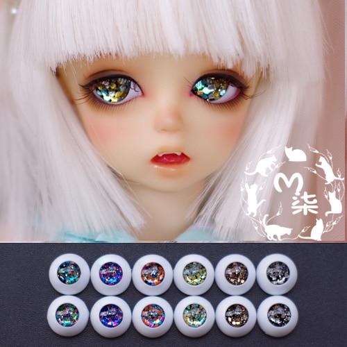 BJD Eyes 10mm 12mm 14mm 16mm 18/20/22mm  Eyeballs  for SD/MSD/YSD/70CM Ball-jointed Doll [a16] 1 3 1 4 1 6 bjd eyes 8mm 10mm 14mm 16mm metal acrylic eyeballs for sd msd ysd ball jointed doll
