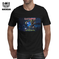 Rocksir 3D Printed T Shirts Men Iron Maiden T Shirt Men S Cotton Tshirt Short