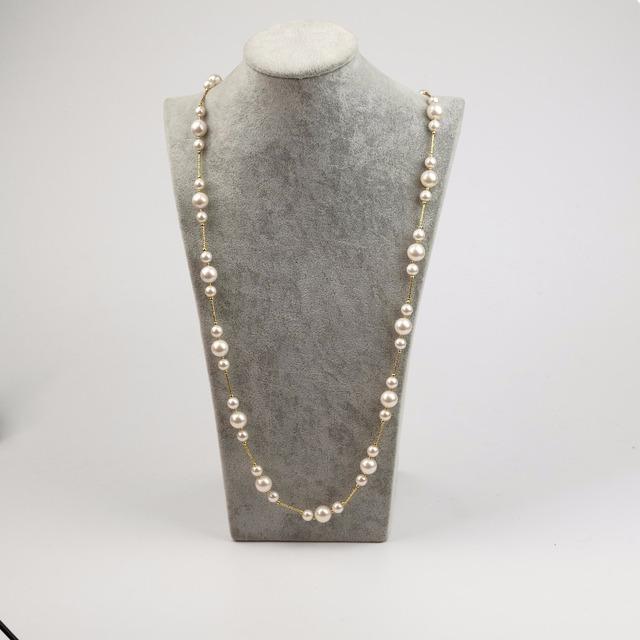 2016 nueva llegada de la manera collares de cadena suéter de la vendimia del partido romántico choker collar simulado collar de perlas de joyería de moda