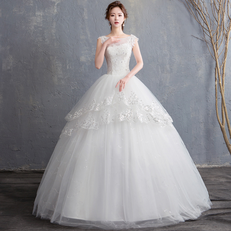Wedding Dress 2019 New Bride Princess Dream Ball Gowns Marriage Dresses Lace Up Wedding Dresses