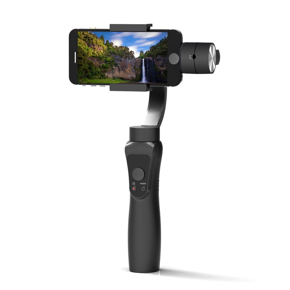 Neueste Glatte 3-Achse Handheld Gimbal Tragbare Stabilisator für iPhone X 8 Xiaomi Samsung S8 Smart telefon Gopro Action kamera