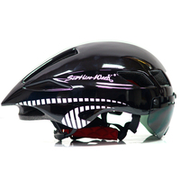 2017 Cycling Helmet Glass Capacete Da Ciclismo Cascos Ciclismo Integrally Mtb Mountain Road Bike Bicycle Helmet