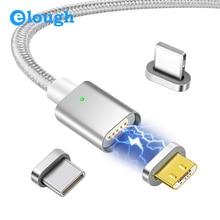 Elough Cable USB de carga magnética para iPhone, Cable Micro USB tipo C, Cable de datos de carga rápida, E04