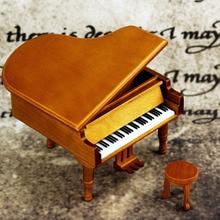 купить Clockwork Type Piano Wooden Music Box Home Decor Birthday Anniversary Christmas Gift Present For Girlfriend Women дешево