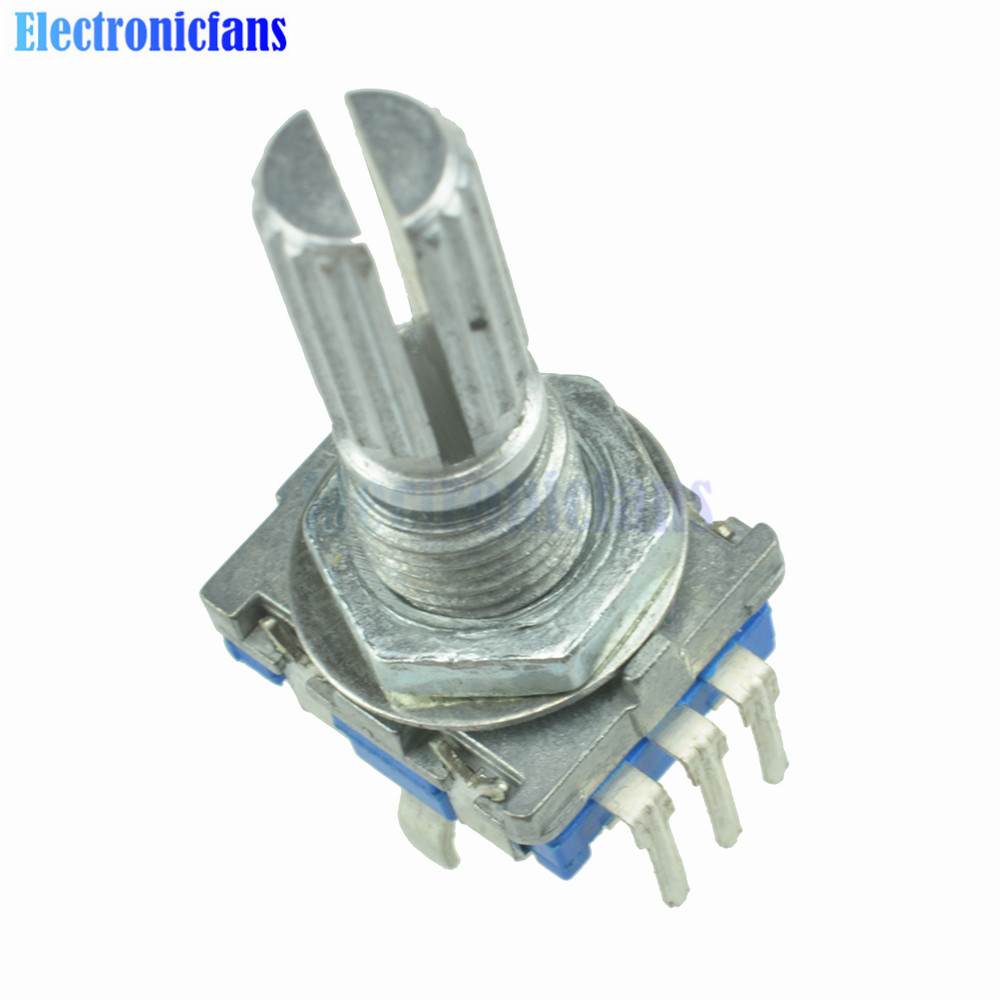 2Pcs Rotary Encoder Switch EC11 Audio Digital Potentiometer With Handle Length 20mm Free Shipping