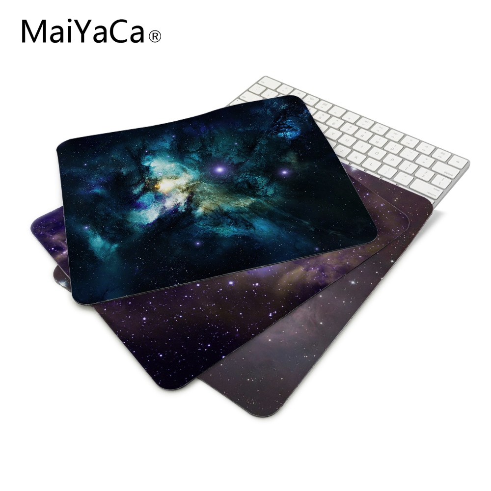 Outer space stars nebulae space art wallpaper Anti-Slip Mouse Pad 180x220x2mm and 250x290x2mm mat Cool Design mouse pad наклейка на стену space art