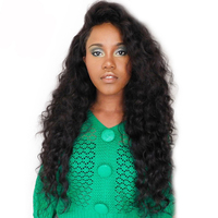 13x6 Lace Front Wig Brazilian Lace Frontal Glueless Human Hair Wigs For Women Loose Wave 150% Density Black Deep Part CARA Remy