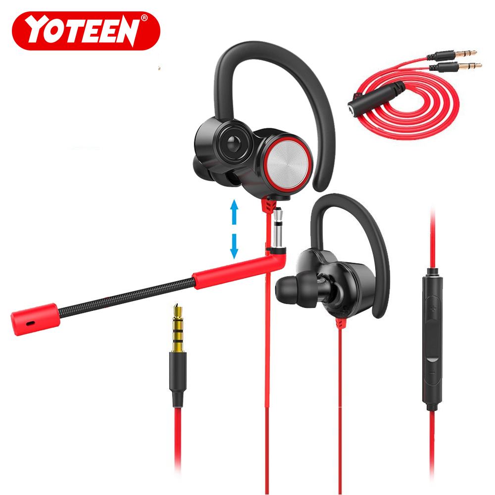 YOTEEN Gaming Earphone with Adjust Removable Mic Hands free Chatting Dual Dynamic Drivers Wired Earphone for Nintend Switch PS4 YOTEEN Gaming Earphone with Adjust Removable Mic Hands free Chatting Dual Dynamic Drivers Wired Earphone for Nintend Switch PS4