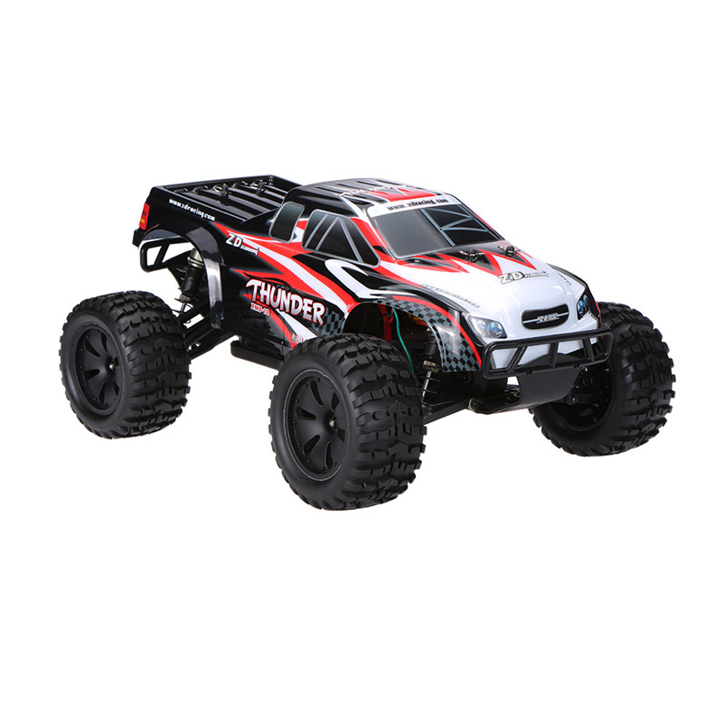 ZD Racing 9105 Thunder ZMT-10 1/10 DIY Car Kit 2.4G 4WD RC Truck Frame Without Electronic Parts For Kids Gift high quality feiyue fy 03 eagle rc remote control car kit for diy handmade upgrade parts without electronic parts