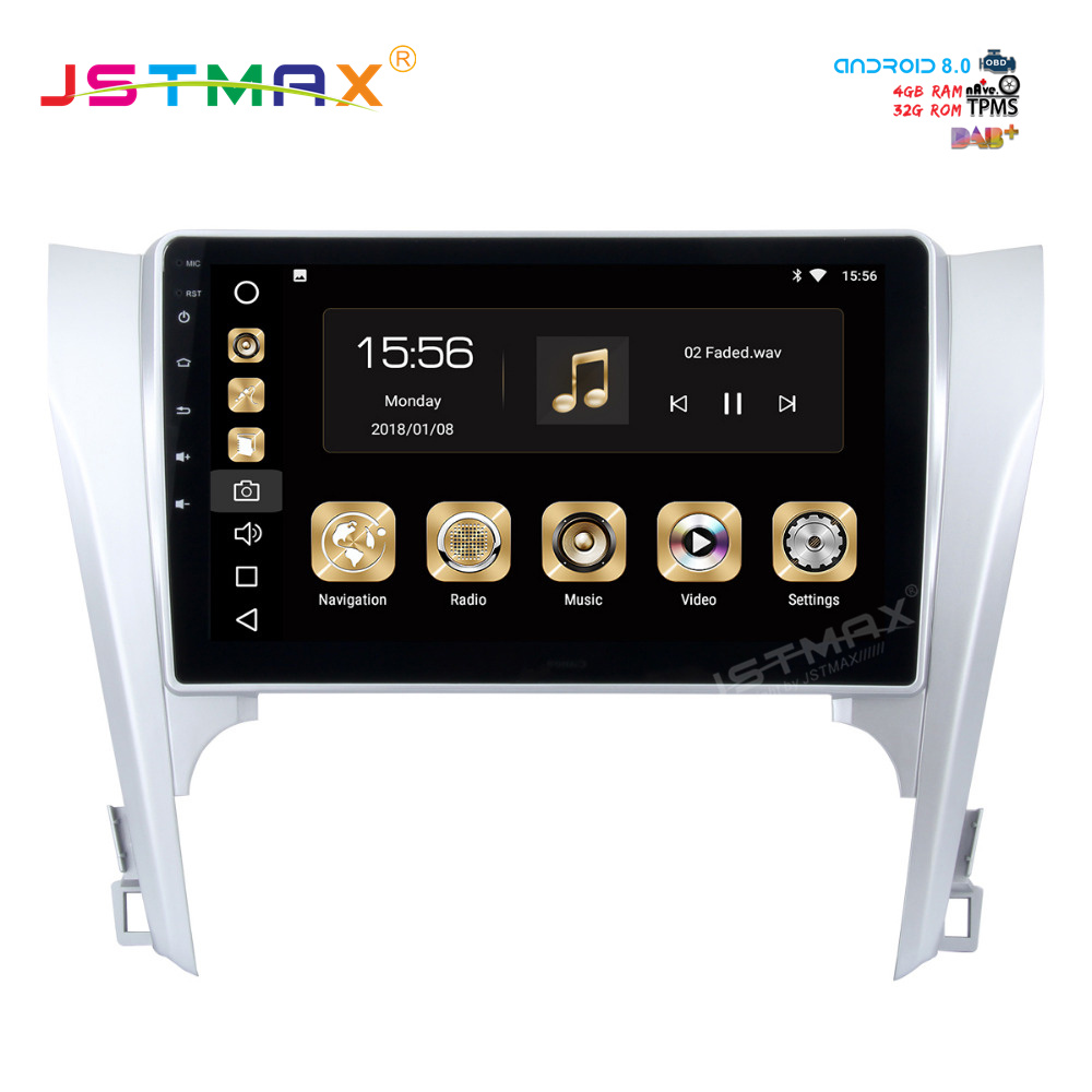 "Top JSTMAX 10.2"" Android 8.0 car dvd radio player for Toyota Camry 2012 2013 2014 gps navi Octa Core 4GB 32GB Auto Stereo(NO dvd) 2"