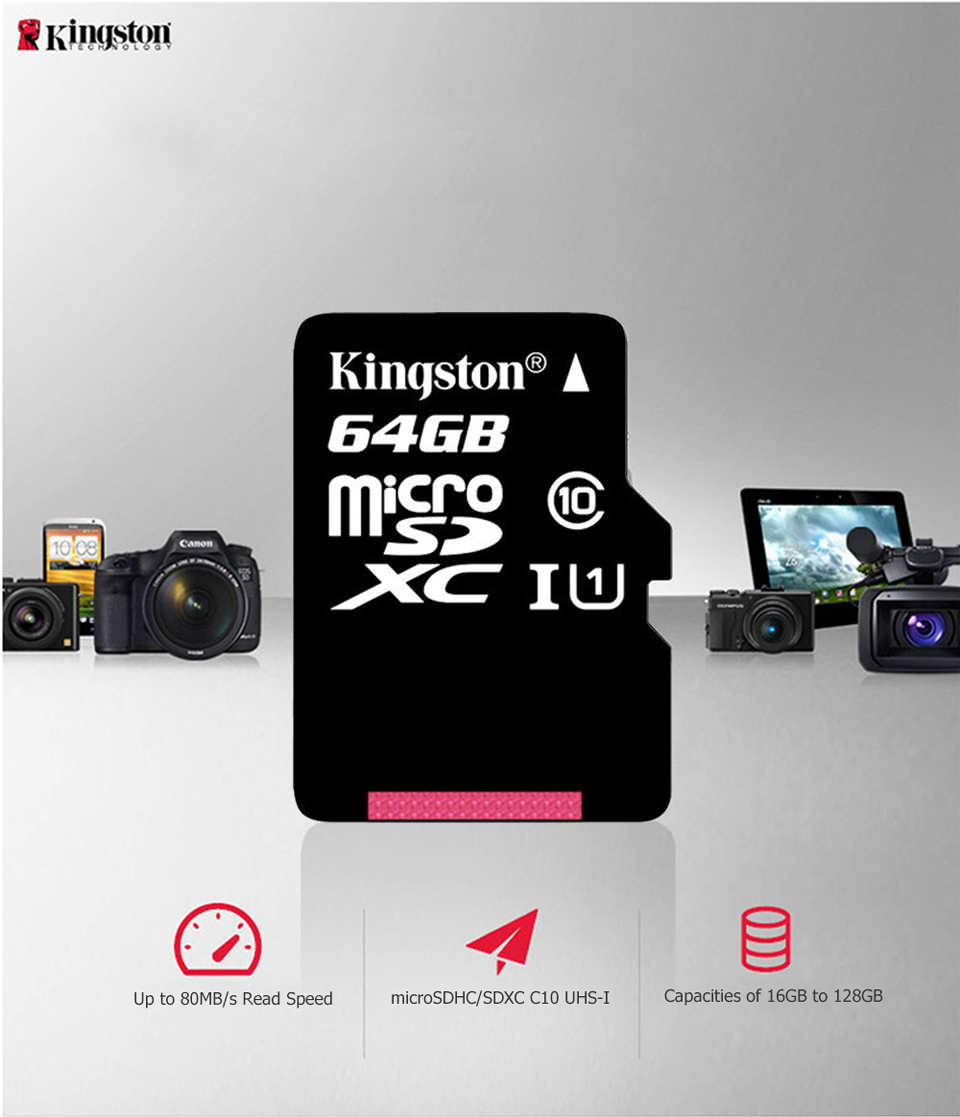Kingston Micro SD Memory Card 32GB 16GB 64GB Class10 Mini SD Card Class4 8GB 16GB With TF Card Reader For Android SmartPhone 3