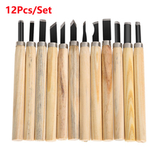 hot deal buy 12pcs woodcut knife scorper wood carving tool woodworking hobby arts craft nicking cutter graver scalpel multi diy hand tool set