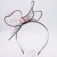 6 стилей, Милые шифоновые кроличьи ушки, бант для волос, ободки для девочек, детские, сделай сам, повязки на голову, модные головные уборы, аксессуары для волос для женщин