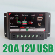 Hot Sale 20A 12V intelligence PV home system Charge Controller with DC 12VDC output 5V USB