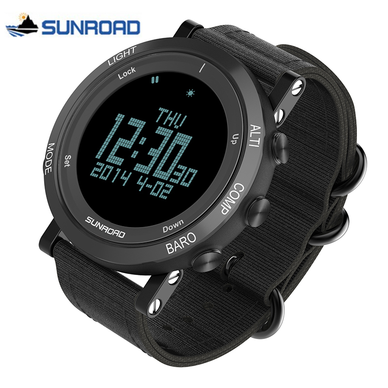 SUNROAD Sport Watch Man Waterproof Military Digital Wrist Watch Nylon Strap LED Chronograph Clock Men Saat Relogio Masculino criancas relogio 2017 colorful boys girls students digital lcd wrist watch boys girls electronic digital wrist sport watch 2 2
