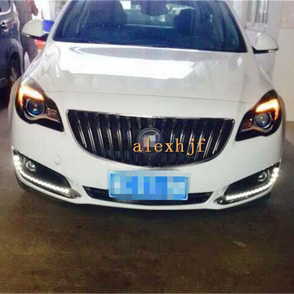 Yeats LED Daytime Running Lights DRL with Fog Lamp Cover, LED Fog Lamp case for Buick Regal Opel Insignia 2014~ON 1:1 Replace for opel astra h gtc 2005 15 h11 wiring harness sockets wire connector switch 2 fog lights drl front bumper 5d lens led lamp