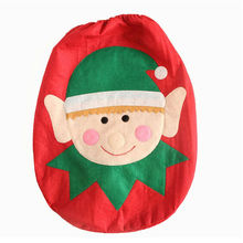 2017 Christmas Decorations For Home Snowman Santa Claus Toilet Seat Cover Toilet lid Elf New Year Xmas Christmas Ornaments SD306