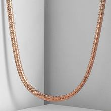 3mm Hammered Close Curb Cuban Mens Boys Womens Girls Unisex Chain Rose Gold Filled Necklace GN265(China)