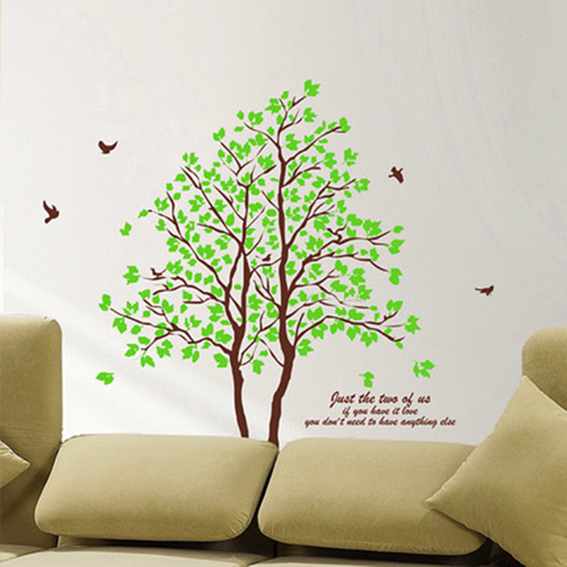 Lemon Tree Living Room Bedroom Warm Wall Stickers TV Background Walls Kids Decorations DIY Home