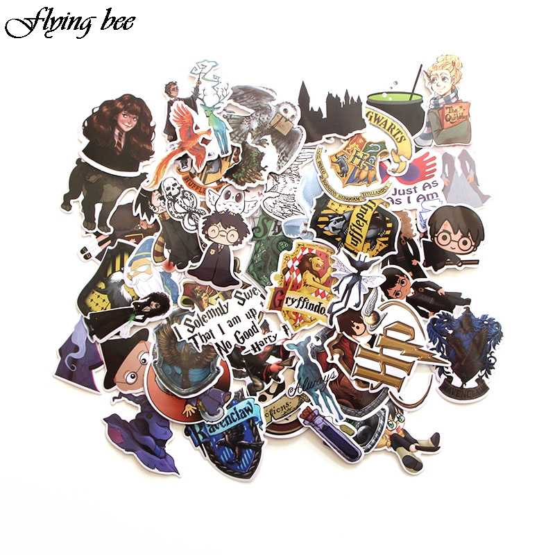 Flyingbee 50 Pcs  Witchcraft and Wizardry Anime Sticker Decals for DIY Luggage Laptop Skateboard Car X0013