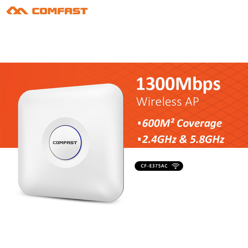 1300mbps Cf-e375ac High Speed Dual-band Wireless Indoor Wifi Repeater 2.4g&5.8g Dual Band Ceiling Ap Wi-fi Signal Amplifier In Short Supply