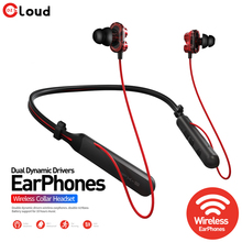 Neckband Wireless Bluetooth Headphones Hybrid Technology noise Canceling Double speaker Headphone New IPX5 Waterproof Earphone bingle fb110 new overear noise canceling white black blutooth head phone running wireless blue tooth audio headphones auricular