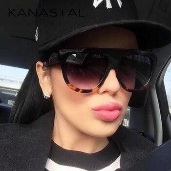 Brand Desinger Luxury Vintage Sun Glasses Fashion Women/Men Sunglasses Big Full Frame Eyewear Gradient Lens Gafas