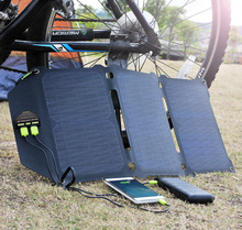 ALLPOWERS 21W Fold Solar Panel Cells Dual USB Charger Batterie Phone Charging for Sony iPhone 5 6 6s 7 8 X Plus iPad
