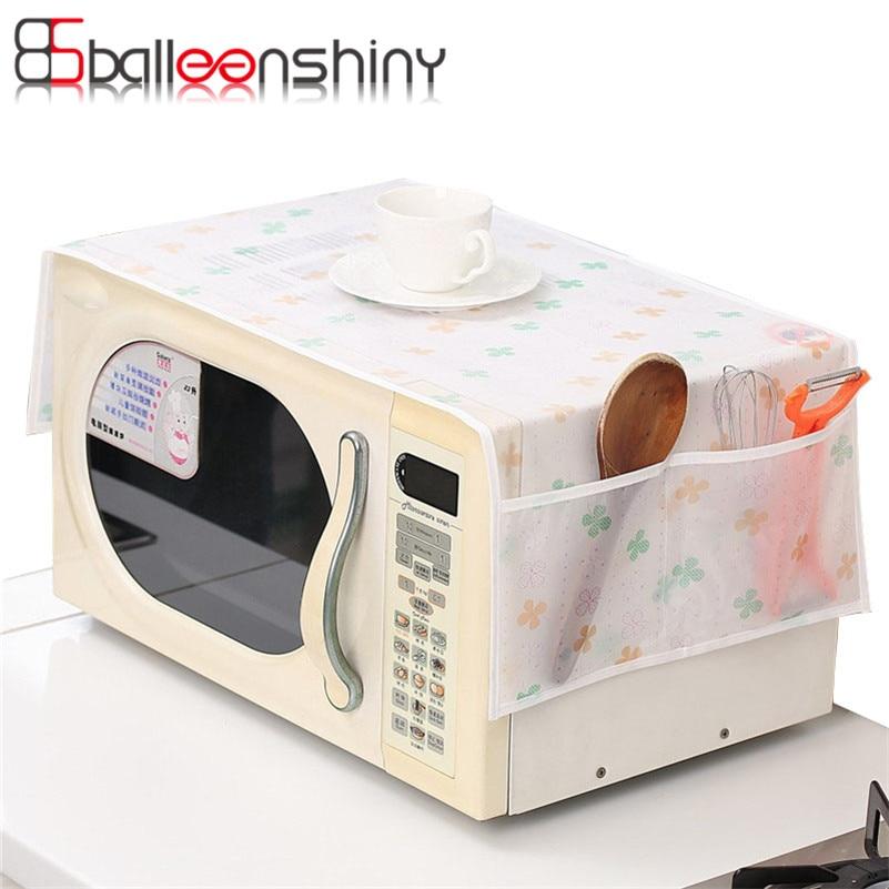 BalleenShiny 1Pcs Forno a microonde Coperchio antipolvere Custodia impermeabile doppio Pocket Organizer Holder Utensili da cucina Gadget
