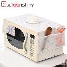 BalleenShiny 1Pcs Microwave Oven Cover Dustproof Storage Bag Waterproof Double Pocket Organizer Holder Kitchen Gadgets Tools