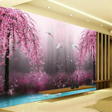 beibehang Custom wallpaper 3d photo mural HD fantasy wonderland peach blossom cr